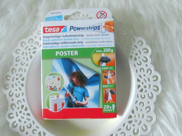 tesa Powerstrips Doppelseitiger Selbstklebestrips für Poster