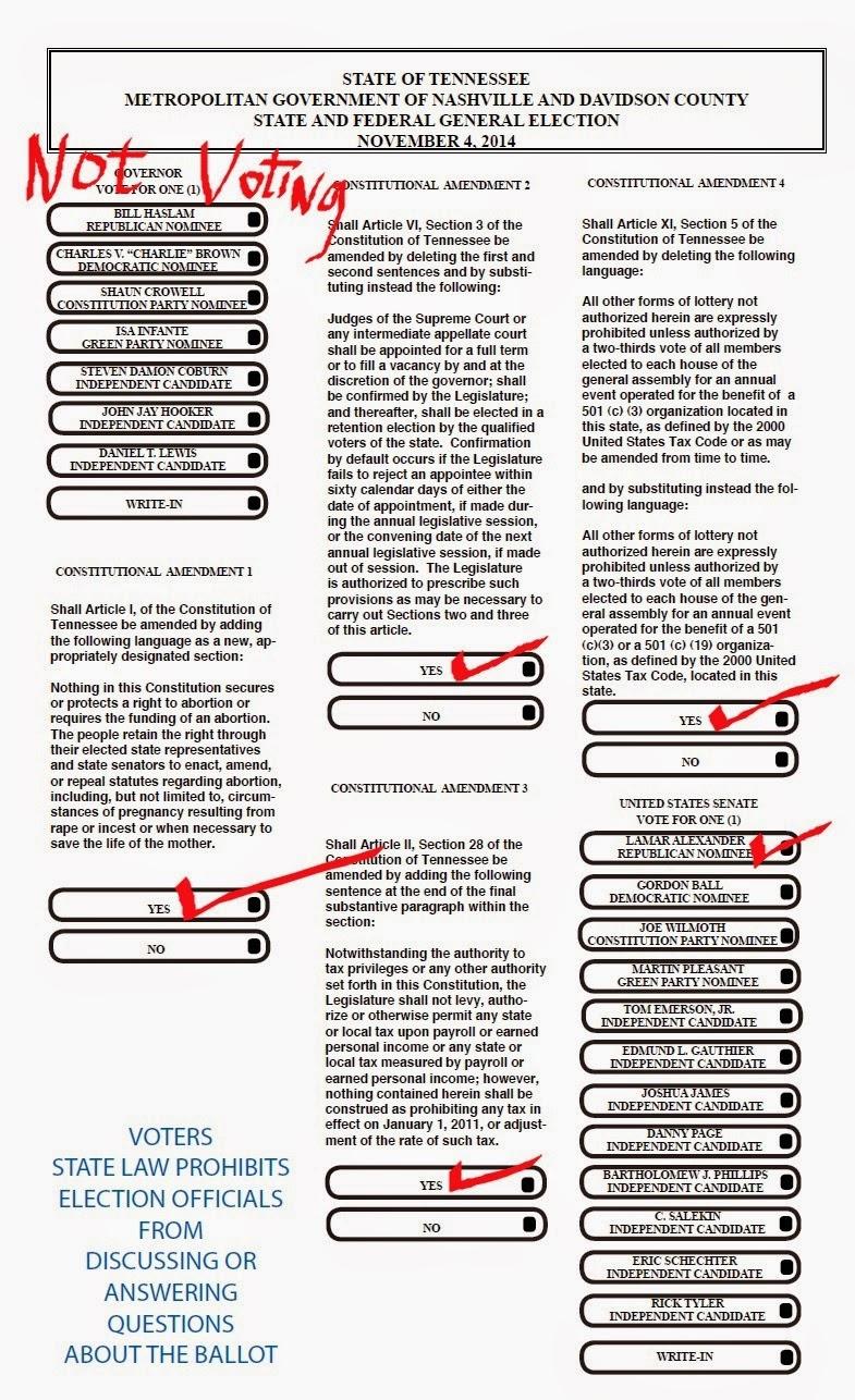 A Disgruntled Republican in Nashville: Sample ballot for the ...