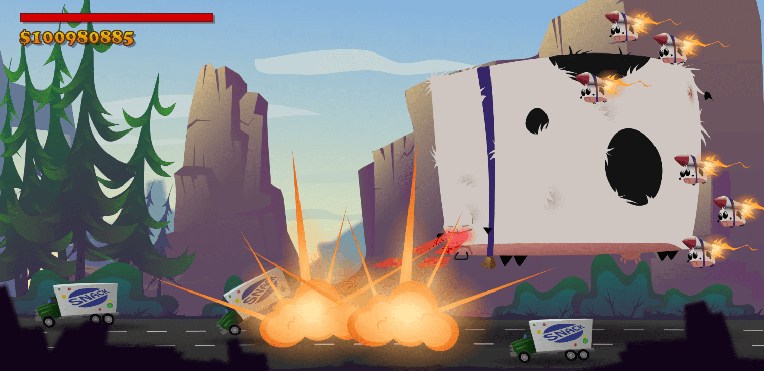 Mega Cow Game Screen Concept Canyons And Baby Cows