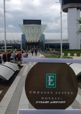Where in the world of Northern Virginia is the Embassy Suites Dulles Airport sign?