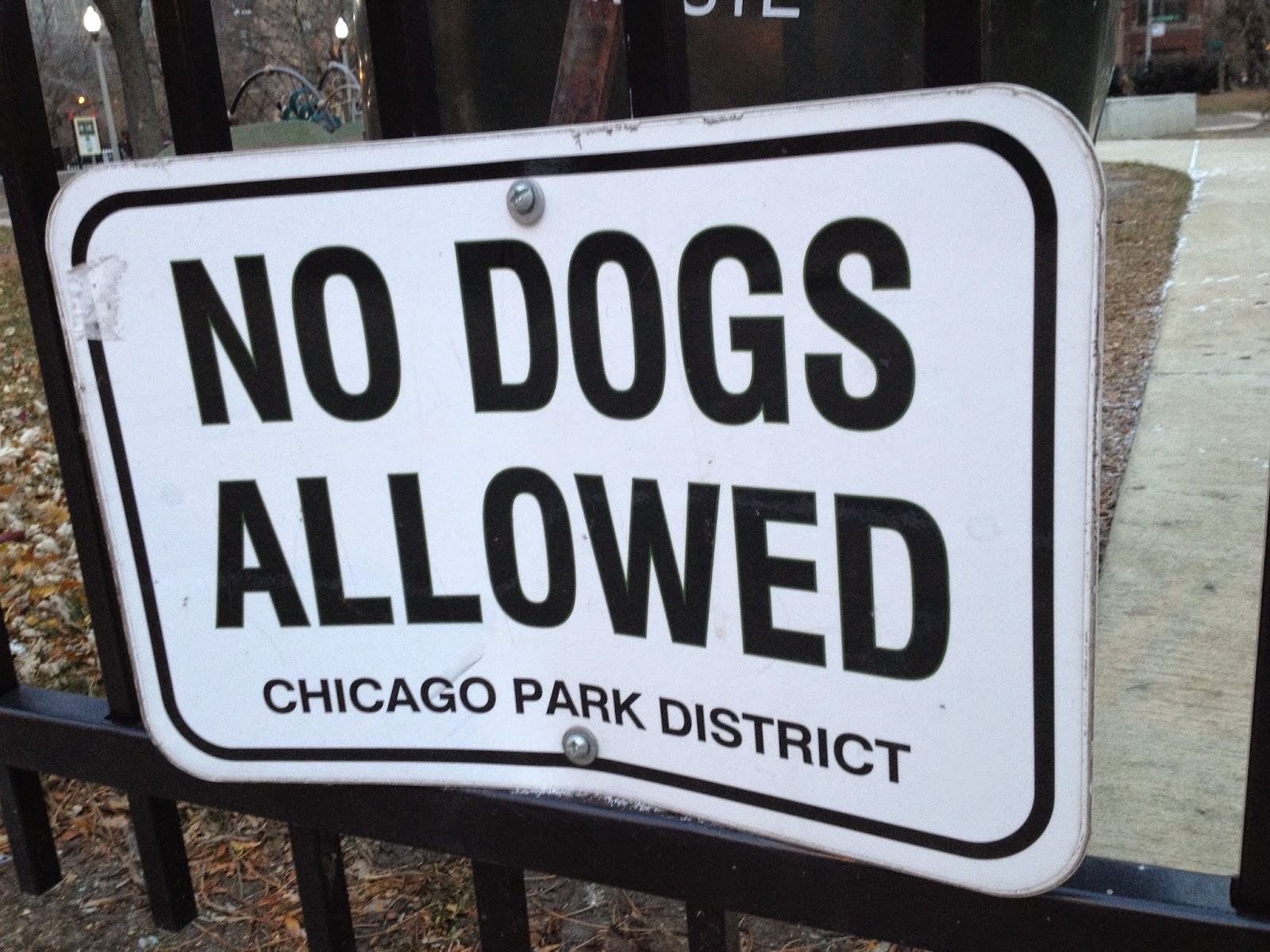 No Dogs Allowed Chicago Uptown neighborhood