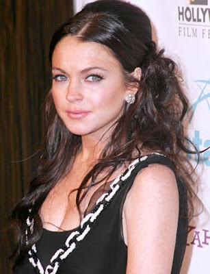 Actress Lindsay Lohan Posing