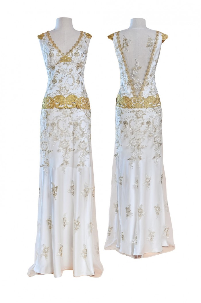 Wedding dress deauville by claire pettibone kitty kanzashi for Wedding dresses eau claire wi