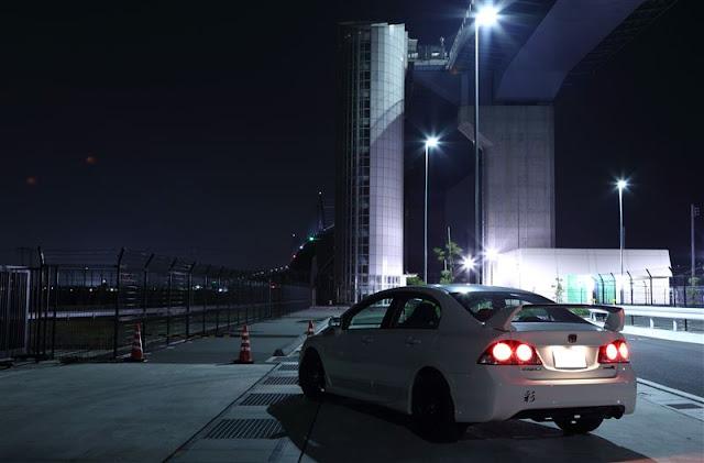 Honda Civic Type R FD2, popularne samochody, VTEC is kicking in yo, typowa Honda, zdjęcia w nocy
