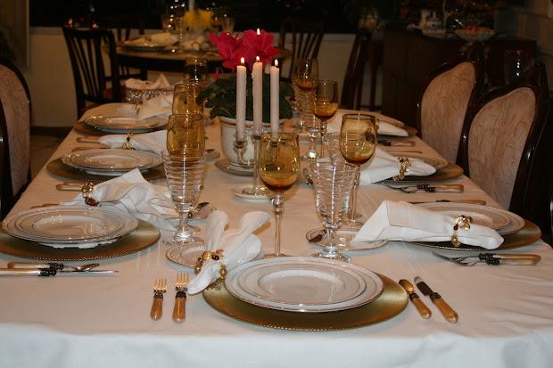 Formal Italian Dinner Party Table Settings