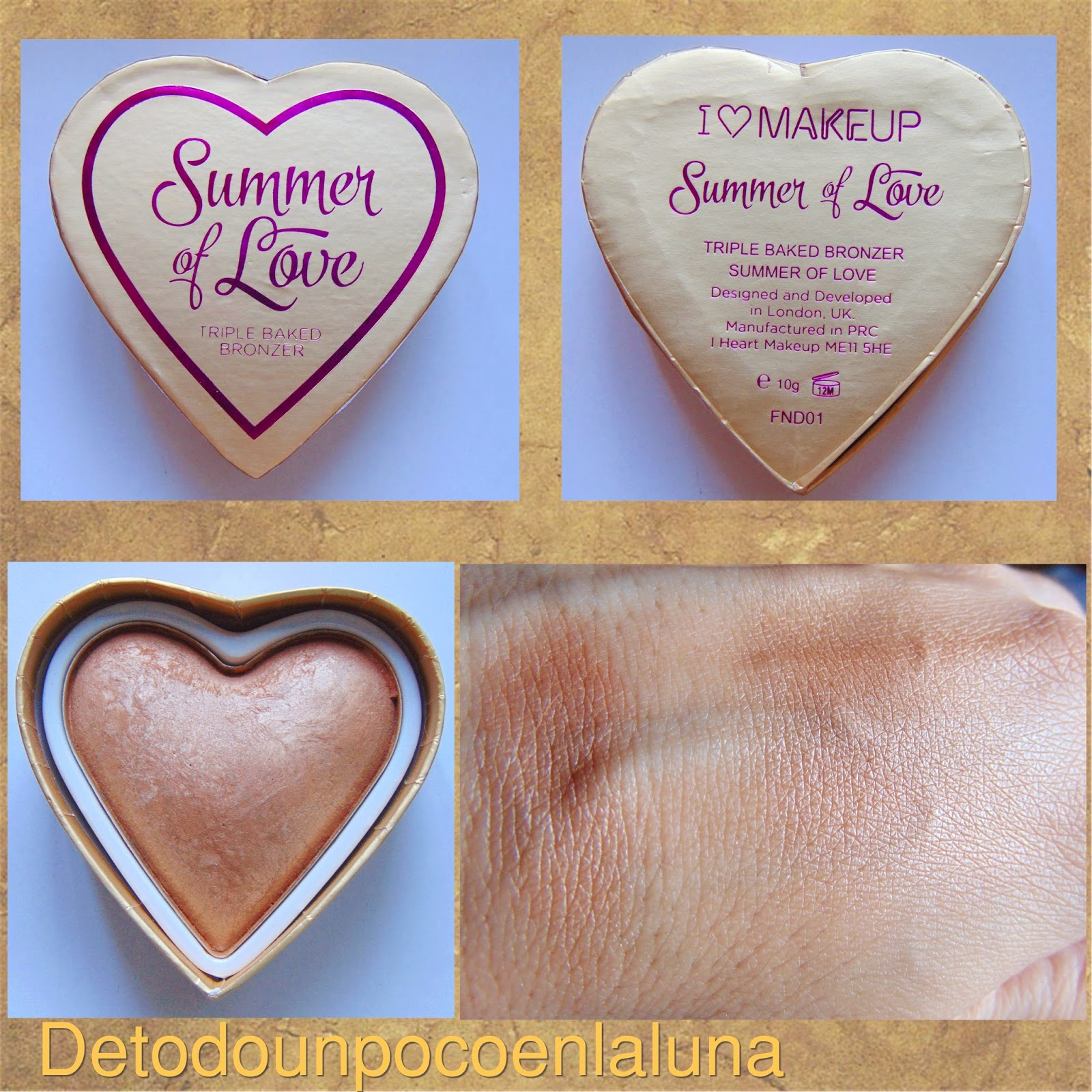 Bronceador Summer of Love I heart makeup