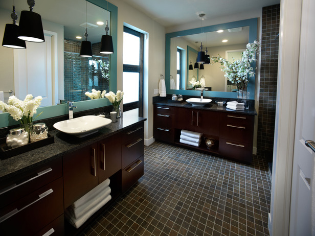 travertine contemporary modern european jetted vessel master - Modern Master Bathroom Designs