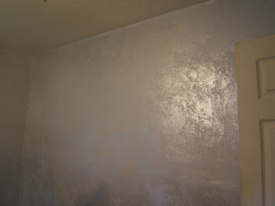 silver glitter wall paint after the walls were done. Black Bedroom Furniture Sets. Home Design Ideas