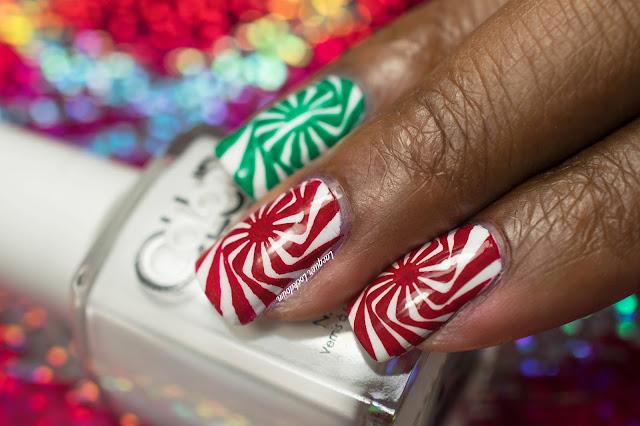 Lacquer Lockdown - candy cane nail art, nail art, nail art stamping blog, nail art stamping, stamping, Illusion 03, MoYou London, Color Club French Tip, Mundo de Unas, Christmas nail art, holiday nail art, xmas nail art, nail art tutorial, peppermint nail art, candy cane nail art, cute nail art ideas, cool nail art ideas, beginner nail art
