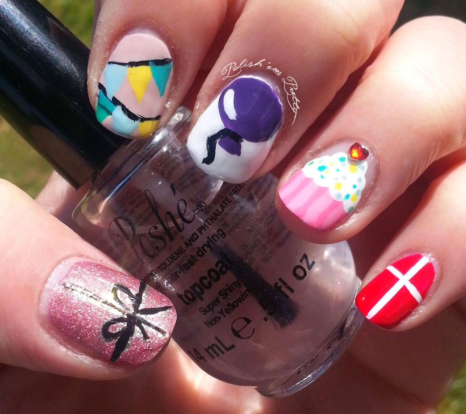 Polish \'em Pretty: Birthday nails!