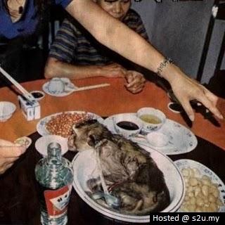 2 Gambar Menjijikkan Nasi Bungkus Yang Dibeli Percuma Kepala Ular
