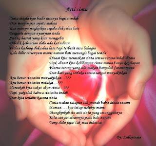 Puisi Ketulusan Cinta