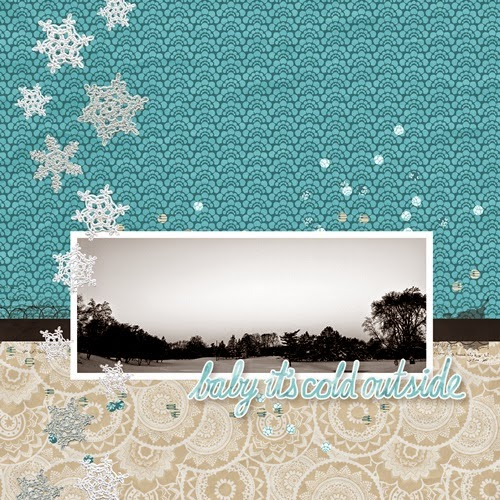 Winter Landscape Digital Scrapbooking Page