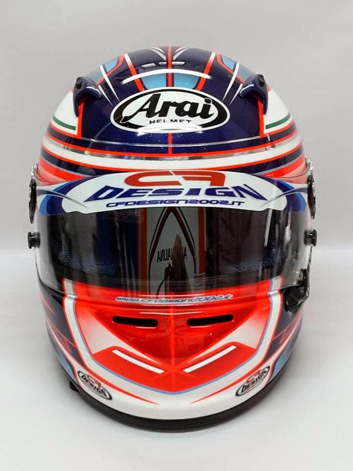Racing Helmets Garage: Arai CK-6 C.Meloni 2014 by CF Design