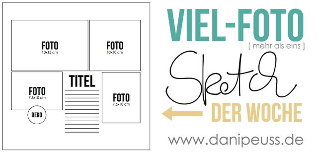 Jeden Donnerstag ein neuer Scrapbooking Sketch von www.danipeuss.de