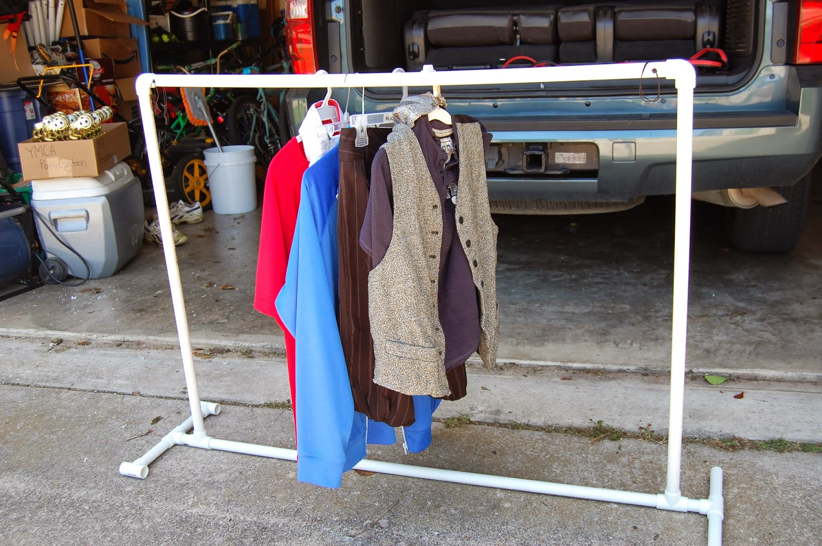 blessed with boys easy diy pvc clothes rack