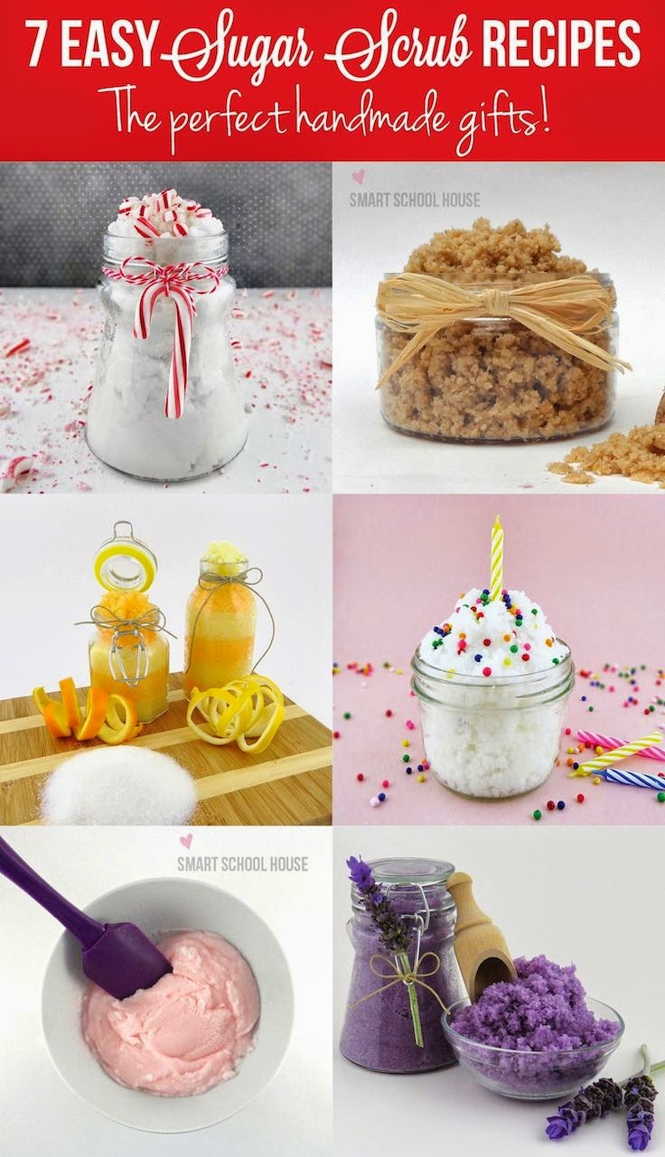 http://www.smartschoolhouse.com/diy-craft/easy-sugar-scrub-recipes