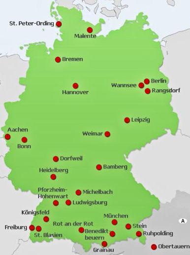 Mapas del Mundo Mapa fsico Alemania