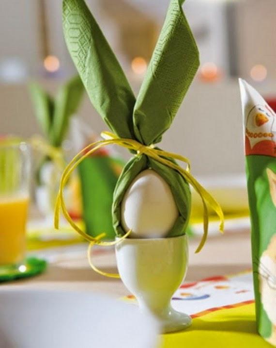 que te parece esta idea para adornar tus huevos de pascua es muy sencillo tan solo una servilleta de papel un pequeo cordel y listo unas preciosas