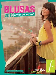 catalogo de blusas verano 2013