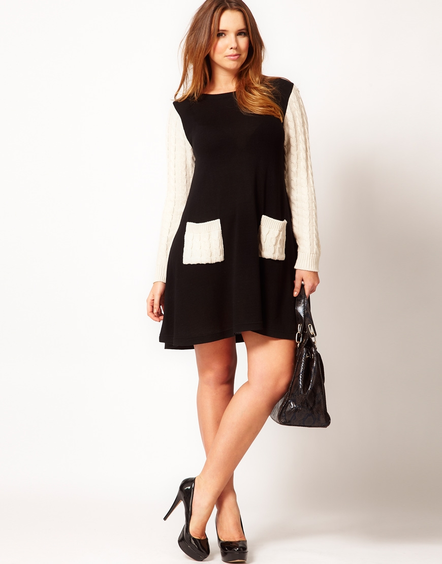 rock} or not? ASOS Curve Swing Dress With Cable Sleeves ...