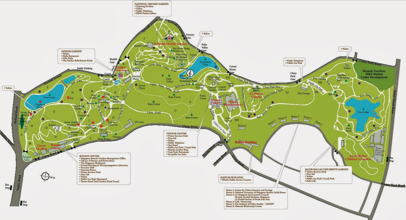 Singapore Botanic Gardens Map How To Get There Getting