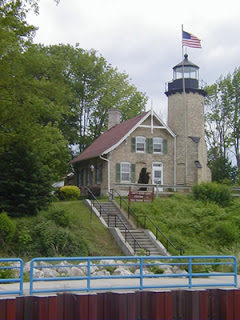 The historical White Lake light station