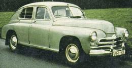 Старый автомобиль Победа