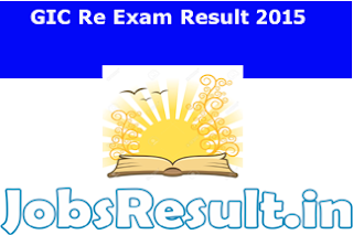 GIC Re Exam Result 2015