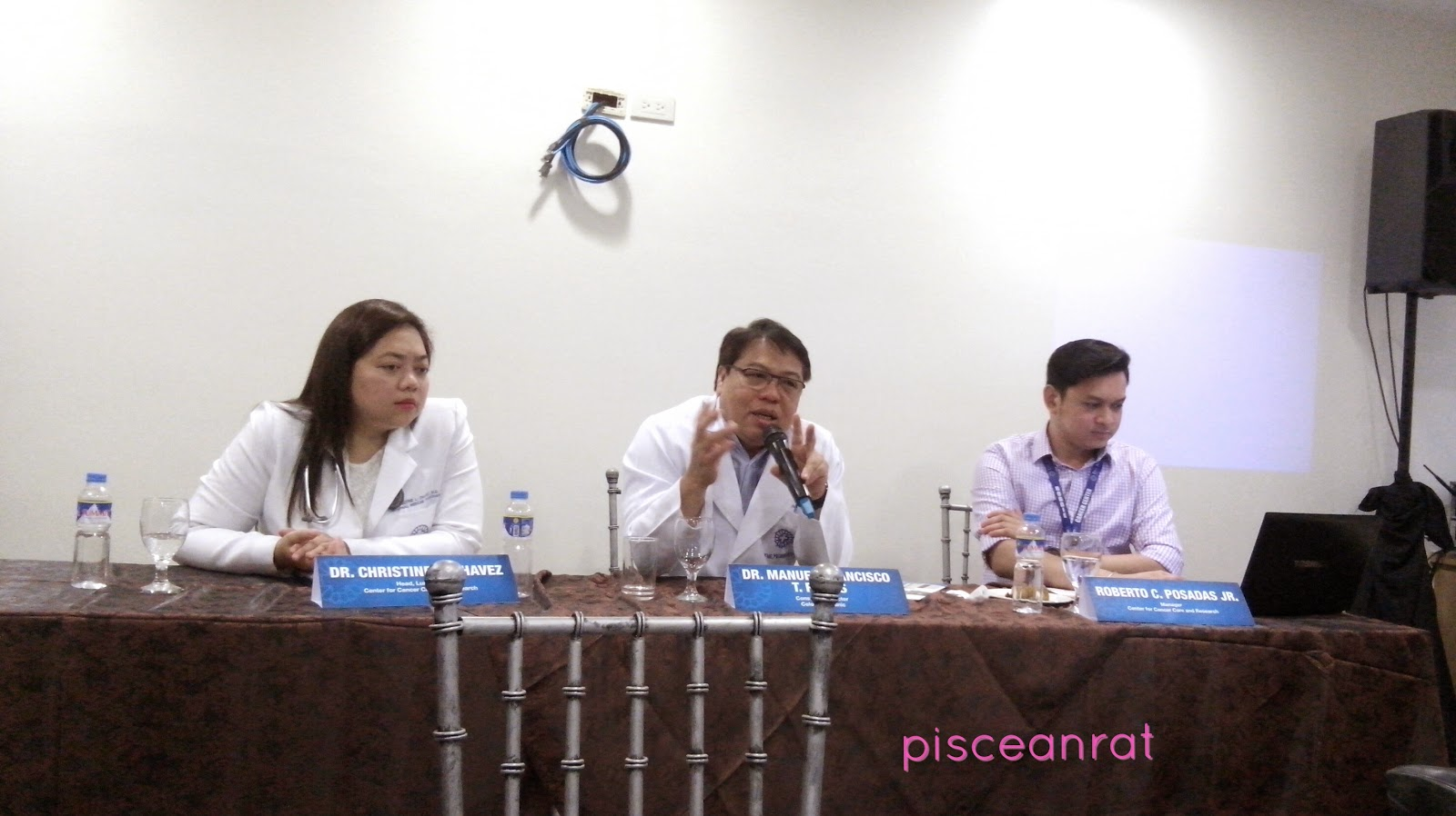 Left to Right- Dr. Christine L. Chavez, Head, Lung Unit, Center for Cancer Care and Research, Dr. Manuel Francisco T. Roxas, Consultant Director, COlorectal Lininc, Mr. Roberto C. Posadas, Jr.- Manager, Center for Cancer Care and Research. the medical city,