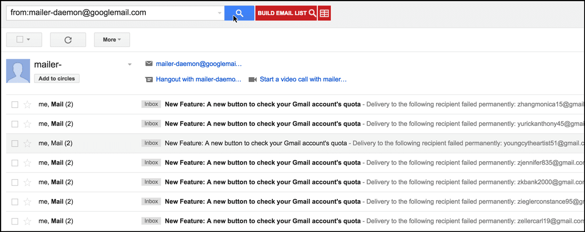 A hack to pull your bounces from your Gmail account - Mail Merge ...