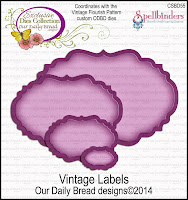 ODBD Custom Vintage Labels Die Set