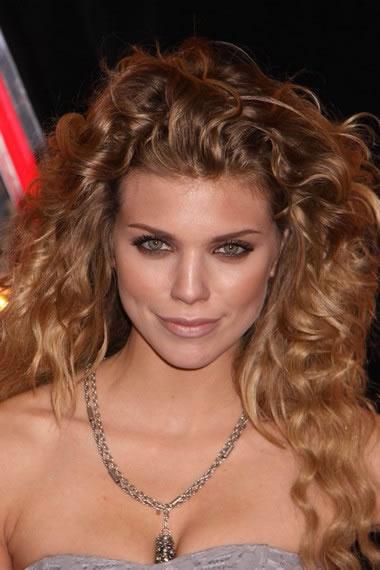 Annalynne Mccord Medium Long Curly Hairstyle