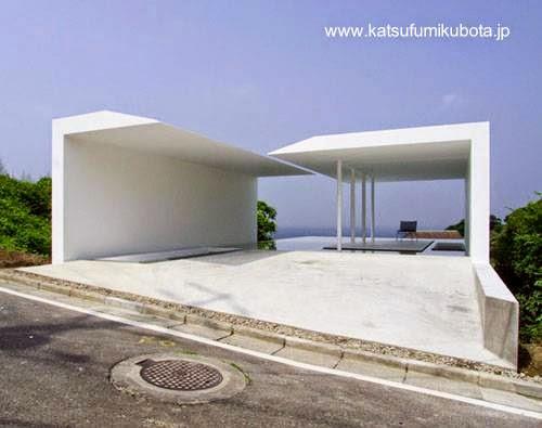 Casa contemporánea ultra-moderna japonesa estilo Minimalista