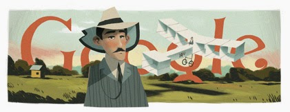 Doodle Santos Dumont