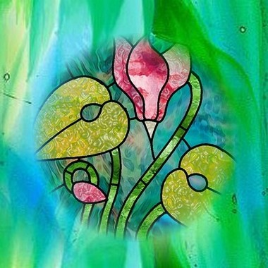 Stained glass door flower pattern   Flickr - Photo Sharing!