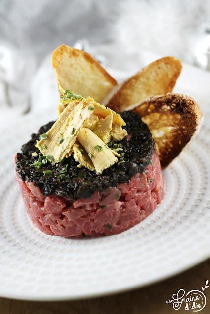 Tartare Bœuf Truffe Noire Foie Gras Aubrac Marie Severac