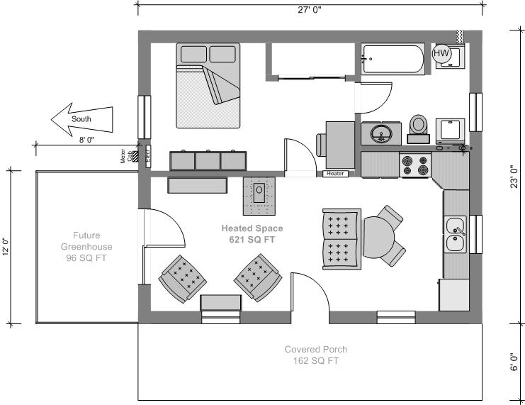 Tiny house plans House layout plan