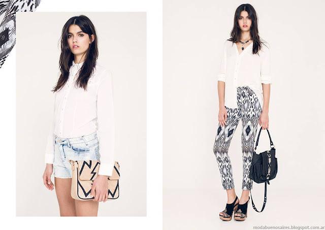 Pantalones estampados verano 2016 Ossira.