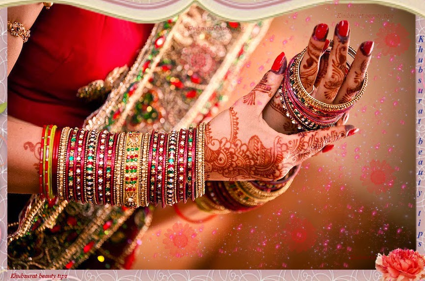 Stylish bridal bangles Set 2014