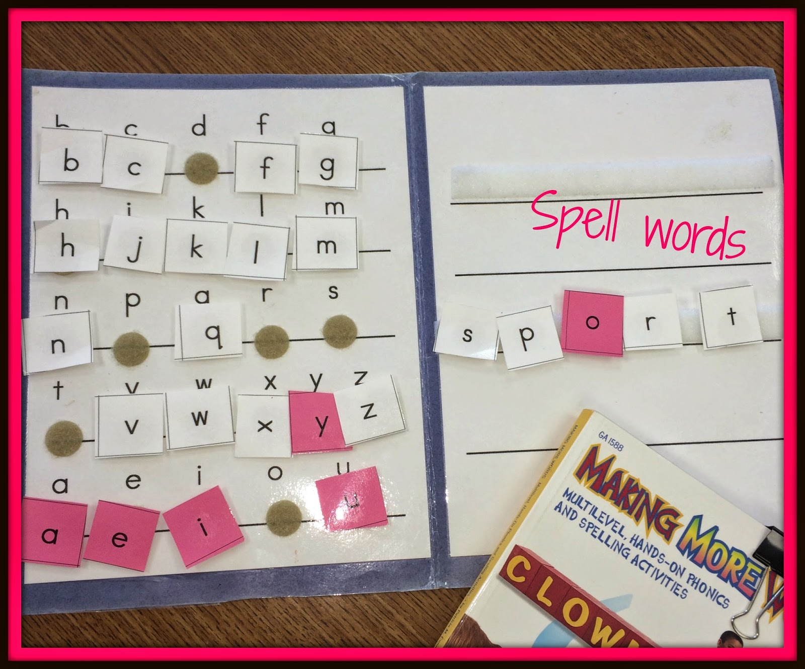 All Things Special Ed Making Words Activity