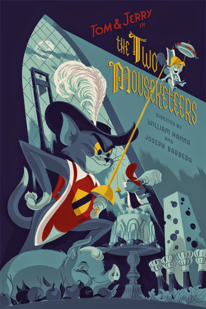 "Mondo x Hanna-Barbera Screen Print Series - ""Tom & Jerry: The Two Mousketeers"" by Anne Benjamin"