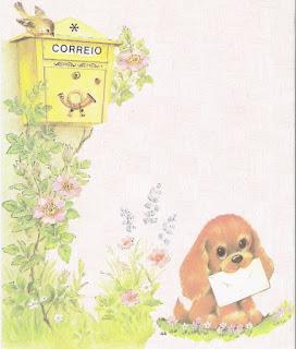 papeis de carta cachorrinho