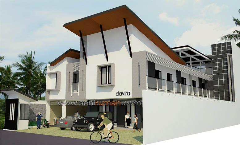 Konsep Desain & Rumah Kost 2 Lantai Modern Minimalis Di Depok | SENI RUMAH