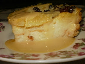BAKED PUDDING WITH CUSTARD SAUCE by CHEF LINA
