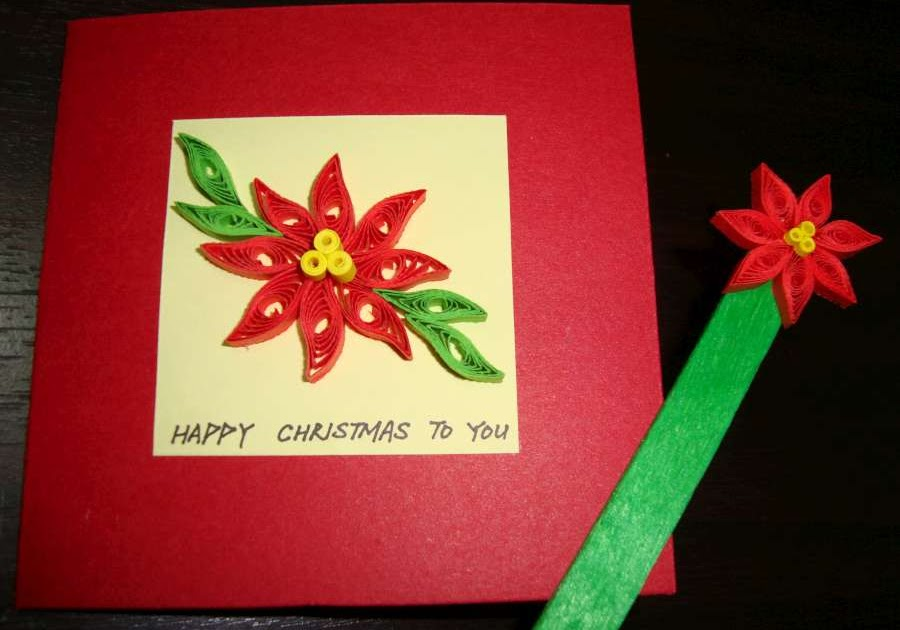 Paper N Quill Crafts Christmas Poinsettia
