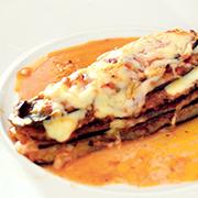 Berenjenas gratinadas con mozzarella