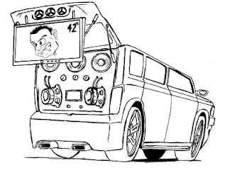 Desenho como desenhar os Som automotivo cars  pintar e colorir
