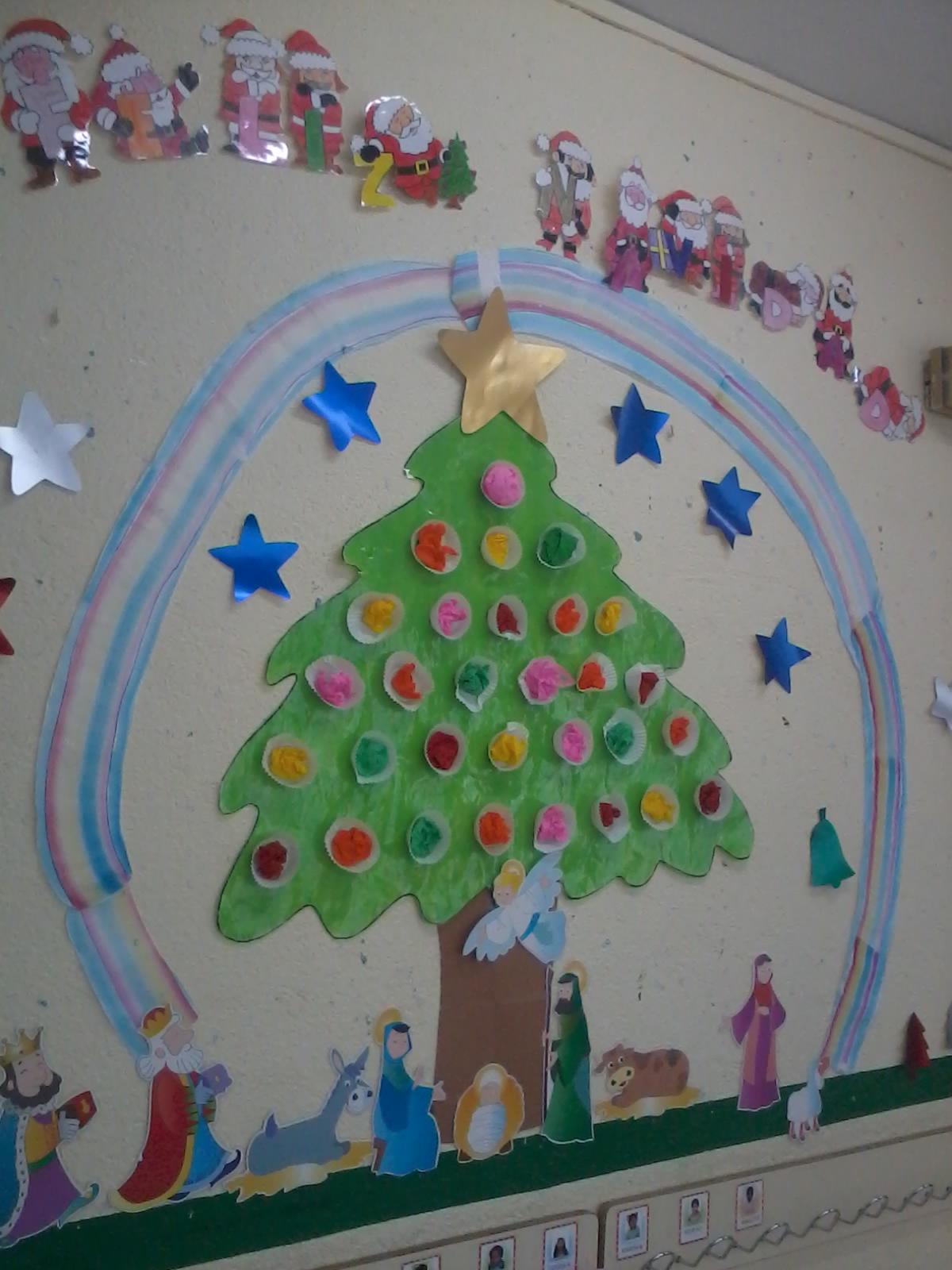 Cosillas de infantil nuestro rbol de navidad - Mural navidad infantil ...