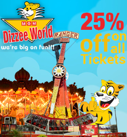 Get 25% OFF on Entry Ticket to MGM Dizzee World at Mywannado.com